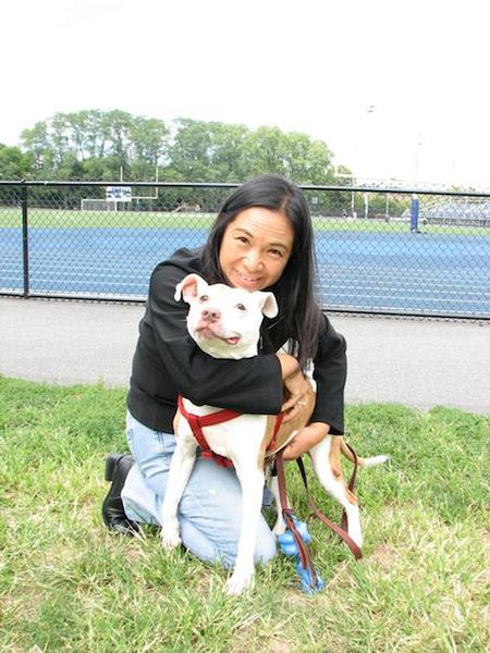 第1回の記事を書いた時に撮ってもらった、愛犬ジュリエットとの記念写真Photo © Maho Teraguchi