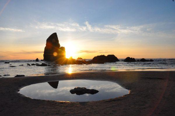 オレゴン・コーストのキャノンビーチにて/Karina Amsden撮影