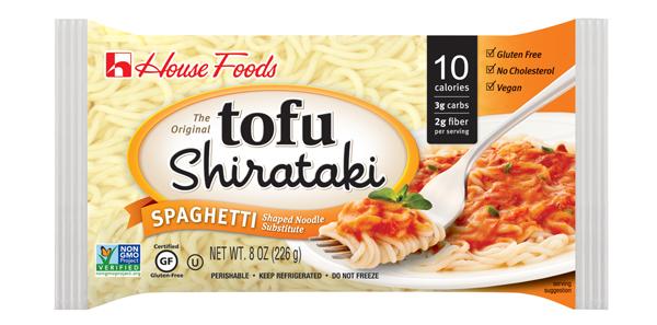 定番商品の豆腐しらたきのスパゲティ
